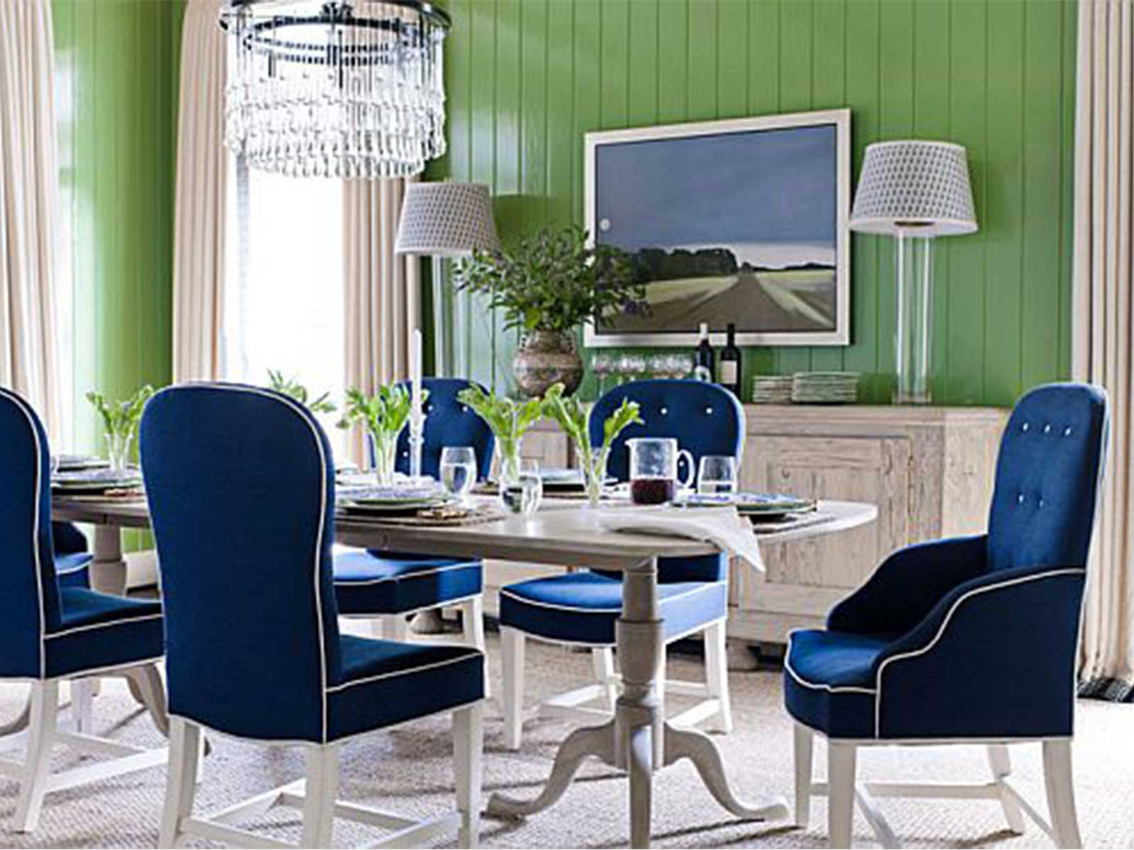 Famed Green Blue Upholstered Chairs Homesfeed Blue Chairs Next Blue Chairs Target Room Blue Upholstered Chairs Long Table Chandelier Cabinet Standing Lamp houzz-02 Blue Dining Chairs