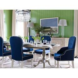 Small Crop Of Blue Dining Chairs