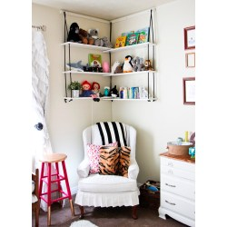 Small Crop Of White Hanging Book Shelf