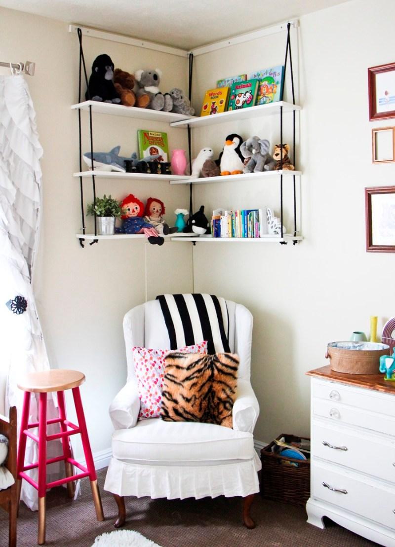 Large Of White Hanging Book Shelf