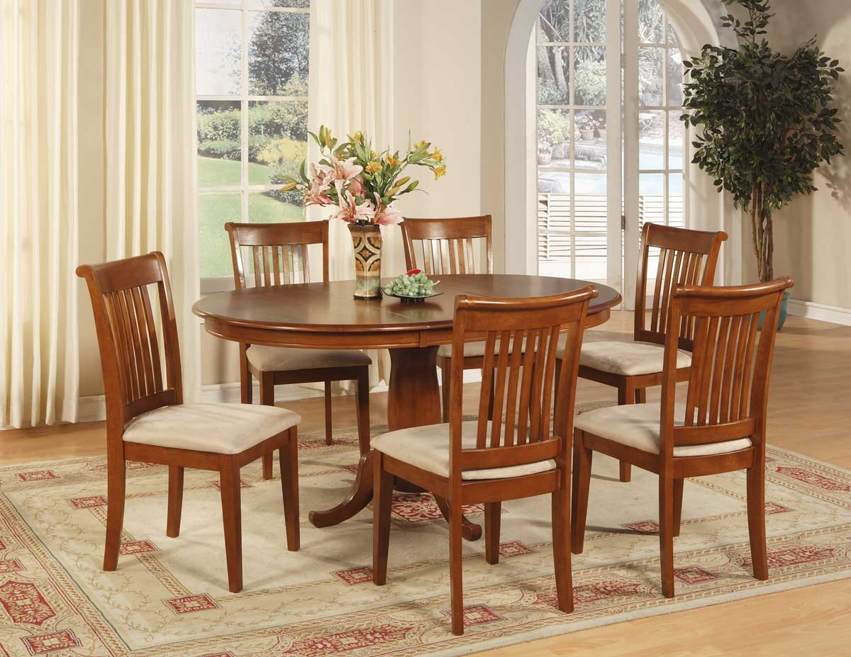 Cool Round Dining Table Set With Leaf For 6 Chairs Seat