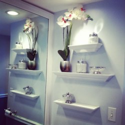 Small Of Bathroom In Wall Shelves