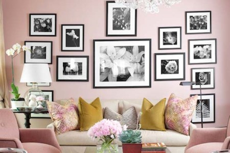 awesome pink living room with frames crystal chandelier gl table and white sofa of home furnishing catalogs