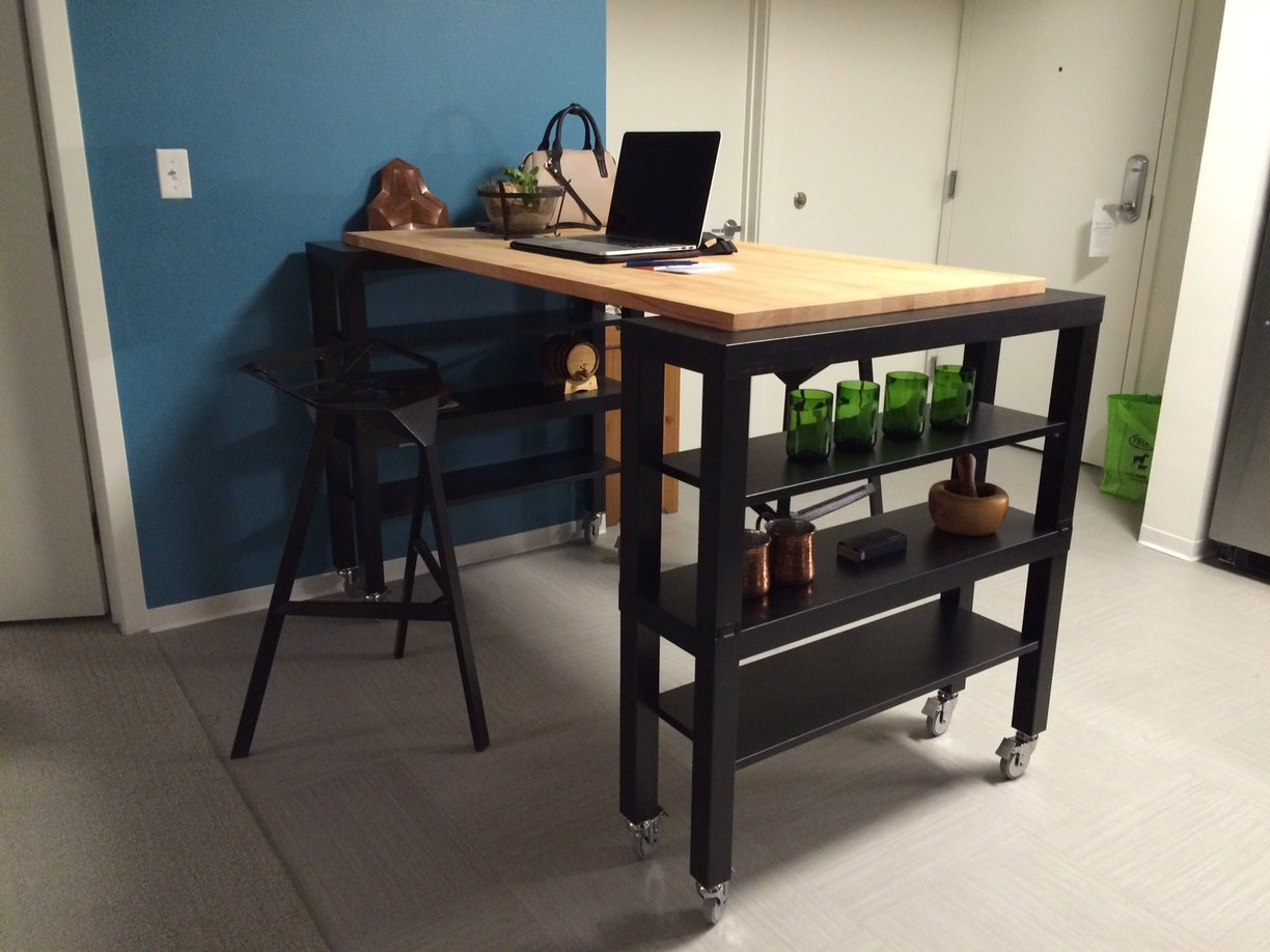 Simple Wooden High Top Tables Ikea With Racks And Stylish Chair