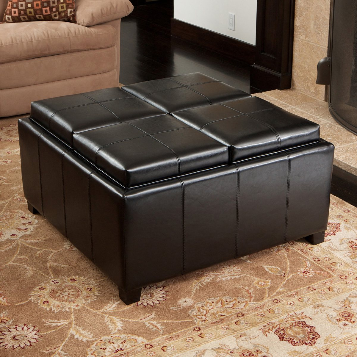 Fullsize Of Square Storage Ottoman