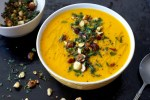 Roasted Butternut and Garlic Soup with Sage and Hazelnut | A rich and hearty vegan soup that is creamy despite being dairy-free. Healthy and warming.