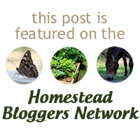 Featured at the Homestead Bloggers Network