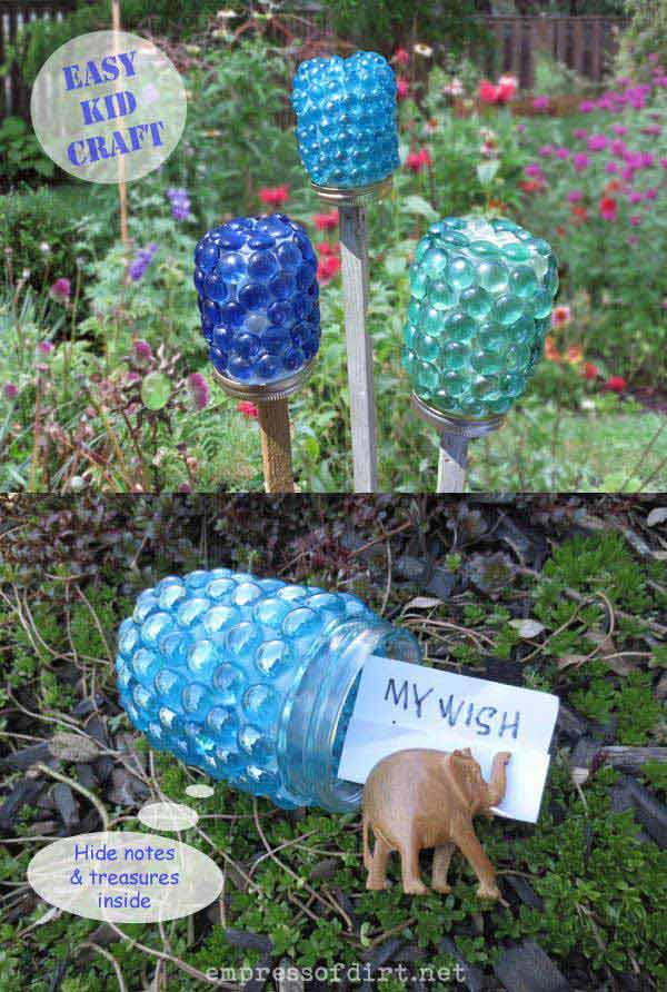 34 easy and cheap diy art projects to beautify your for Simple diy garden designs