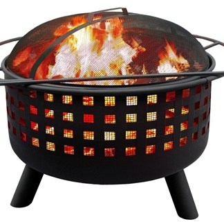 City Lights Memphis Steel Fire Pit Black