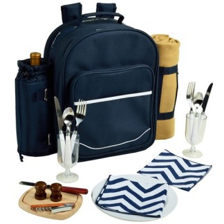 Bold Chevron Picnic Backpack for Two