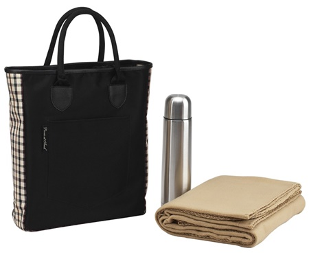 Picnic at Ascot 138-L Coffee Blanket Tote Set