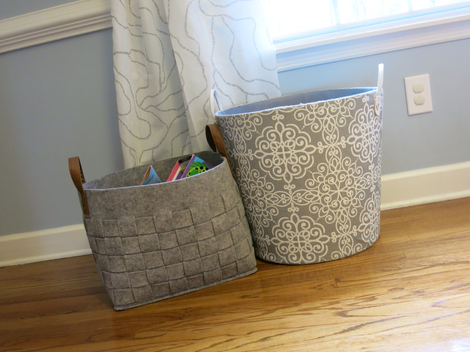 Diaper Stationu2013These Baskets Have Been A Way To Keep Things Separate While  Having 2 Kids In Diapers For The Last Year. Each Girl Has Their Own Diaper  Basket ...