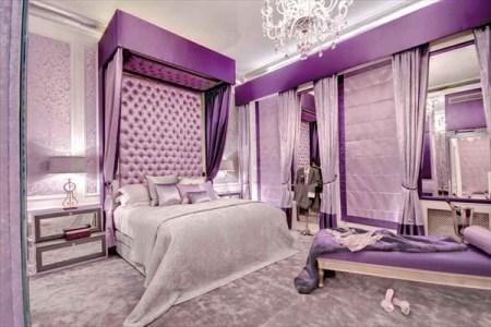 purple bedroom for teenage girls 1
