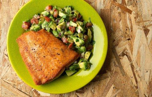 Frantic Avocado Salsa Salmon Salmon Quiche What Goes Good Salmon Burgers Salmon Avocado Salsa Recipe What Goes Good