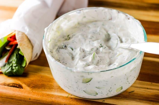 Cucumber Dill Yogurt Dip (Maast o Khiaar) | Honest & Tasty