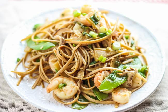 Shrimp Stir Fry with Noodles