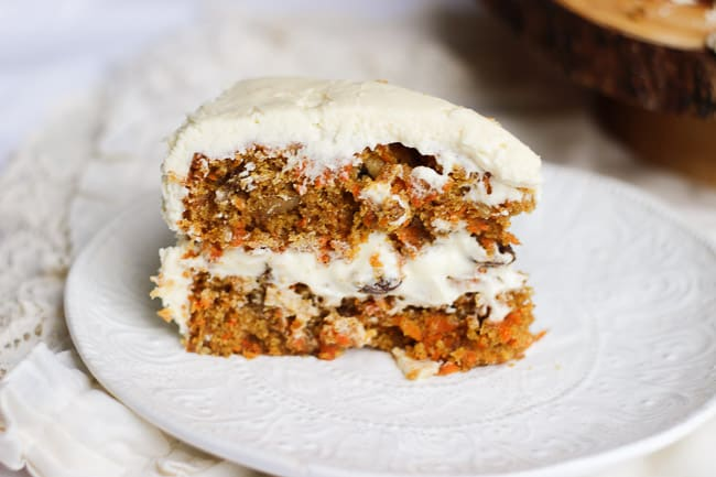 The Best Carrot Cake with Cream Cheese Frosting | Honest & Tasty