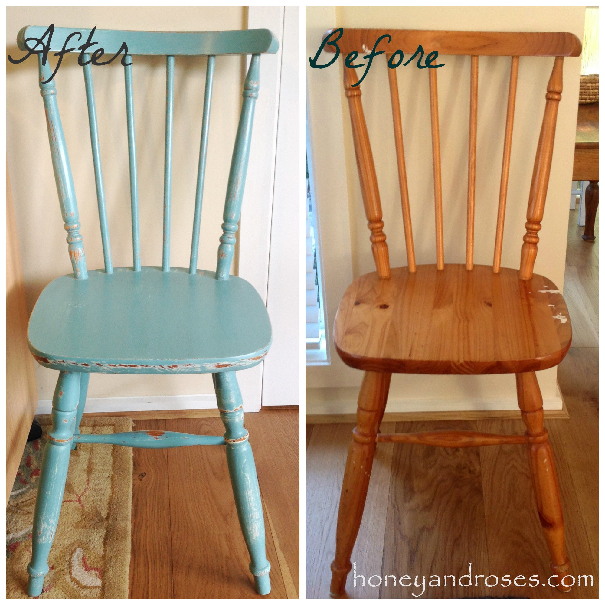 makeover of a pine kitchen chair using chalk paint turquoise kitchen chairs Makeover of a Pine Kitchen Chair uisng Chalk Paint