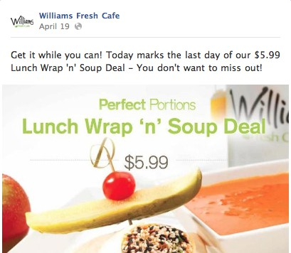 Williams Soup and Sandwich Deal