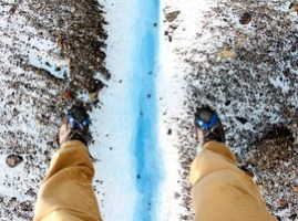 Mike Howard on Big Ice Hike, Perito Moreno Patagonia, Argentina