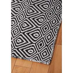 Small Crop Of Black And White Rug