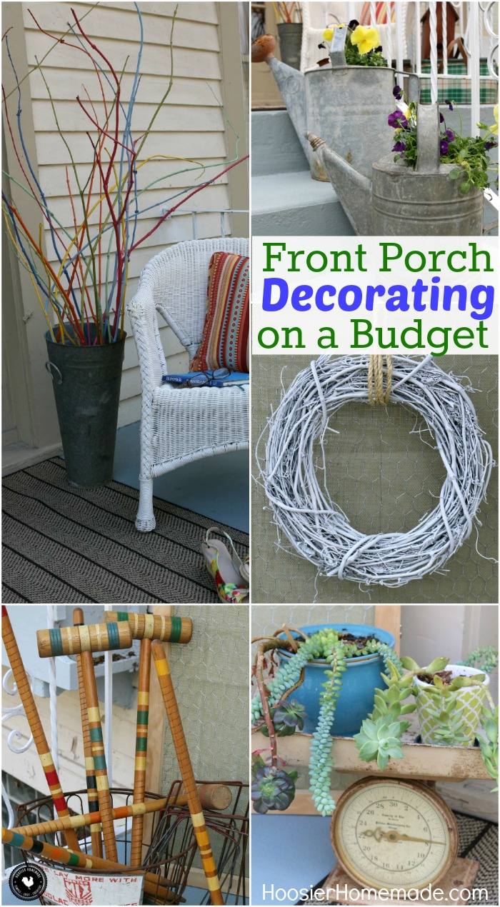 Front Porch Decorating Ideas on a Budget   Hoosier Homemade Front Porch Decorating Ideas on a Budget