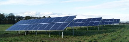 Solar panels at Hopetoun Farm Shop