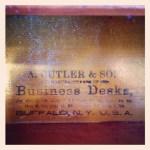 classy desk drawer label