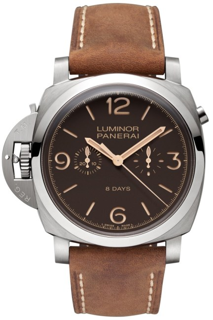 LUMINOR 1950 CHRONO MONOPULSANTE LEFT-HANDED 8 DAYS TITANIO