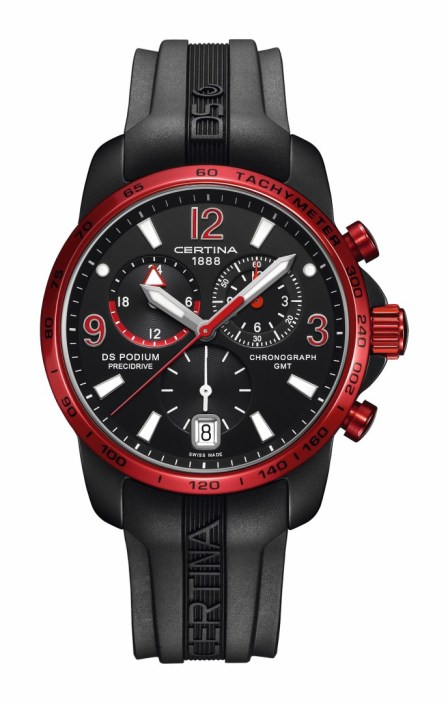 DS Podium GMT Aluminio bisel rojo