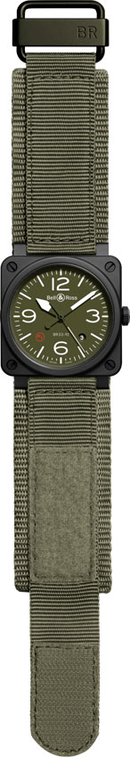 Bell and Ross BR03-92 Ceramic Military Type NATO despleagado