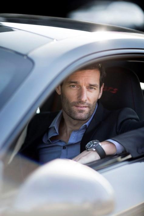 Mark Webber con el Superfast Power Control de Chopard®JohannSauty
