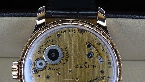 Zenith Academy Georges Favre-Jacot - parte superior del calibre