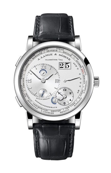 Lange 1 Time Zone oro blanco