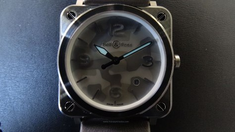 Bell Ross BR S Grey Camouflage SuperLuminova