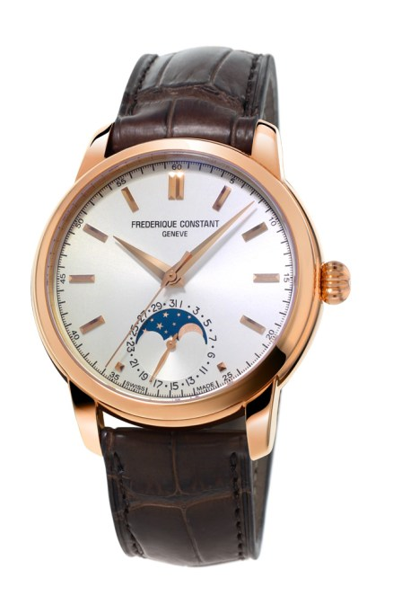 Frederique Constant Classic Manufacture Moonphase oro rosa