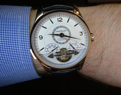 Montblanc Heritage Chronométrie ExoTourbillon Minute Chronograph en la muñeca 1
