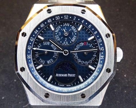Audemars Piguet Perpetual Calendar acero esfera azul frontal