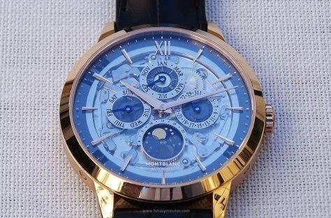 Montblanc Heritage Spirit Perpetual Calendar Sapphire frontal