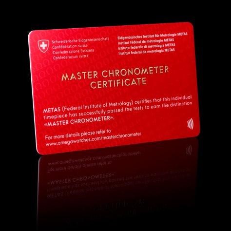 OMEGA Globemaster - certificado METAS