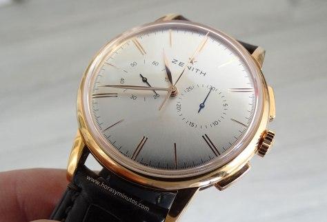 Zenith Elite Chronograph Classic oro rosa perfil