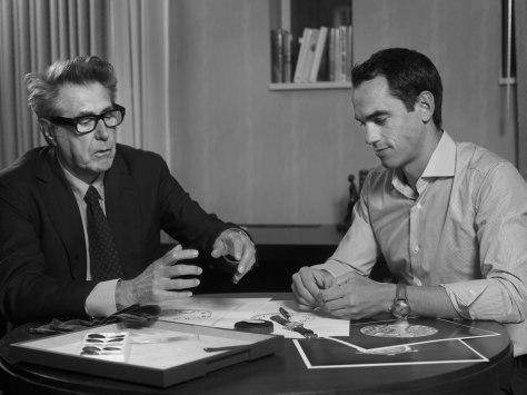 H.moser Bryan Ferry y Eduard Meylan hablando