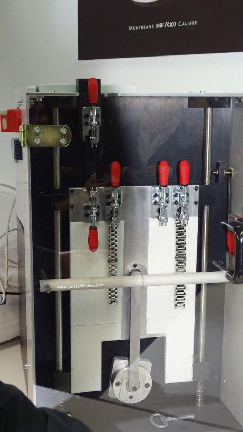 Manufactura Montblanc máquinas de prueba de brazaletes