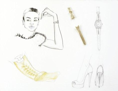 Boceto de Massaro para el Velvet Rita