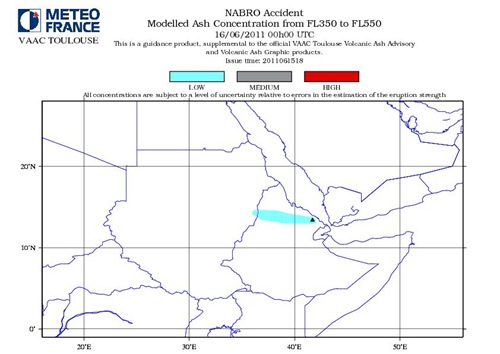 Nabro Volcano Modelled Ash Consentration FL350 to FL550 June 16-2011_00GMT