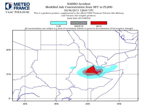 Nabro Volcano Modelled Ash Consentration SFC to FL200 June 16-2011_12GMT