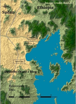Grand Ethiopian Renaissance dam reservoir (Millennium dam)