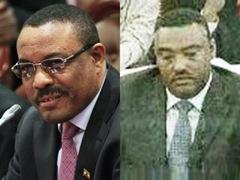 Ethiopian new PM Hailemariam Desalegne and Dep PM Demeke Mekonen