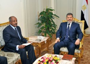 President Mohamed Morsi and Eritrean foreign minister Osman Saleh