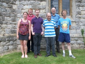L–R: Clare Merivale, Jonathan Mills, Gavin Carpenter, Paul Bloomfield, Chris Pain and Clive Stephenson